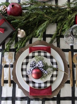 Christmas table setting, holiday ideas