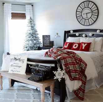 Christmas Guest Room, holiday ideas